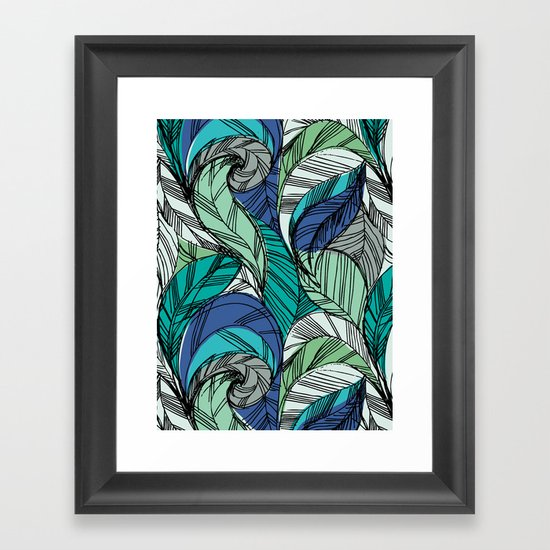 Striped_Feather_Cool Framed Art Print