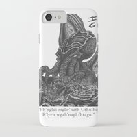 cthulhu iPhone & iPod Cases featuring Cthulhu by IG Design