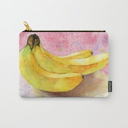 Banana, Watercolor Painting by Suisai Genki Carry-All Pouch