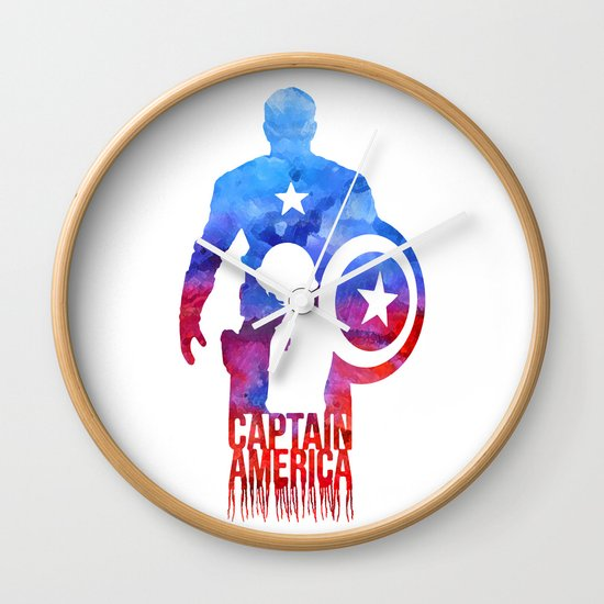 Captain America Wall Clock