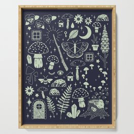 Fairy Garden: Midnight Serving Tray
