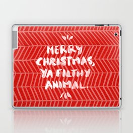 Merry Christmas, Ya Filthy Animal – Red Laptop & iPad Skin