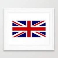 british flag Framed Art Prints featuring British Union Flag by PICSL8