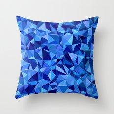 Blue tile mosaic Throw Pillow