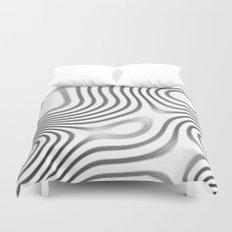 Organic Abstract 01 WHITE Duvet Cover
