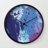 splatter Wall Clocks featuring Splatter by initiale