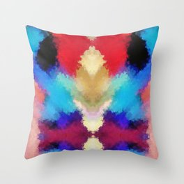 Watercolor Fission Throw Pillow