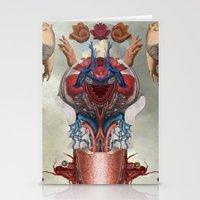 kaiju Stationery Cards featuring Kaiju by DIVIDUS