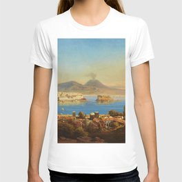The Bay of Naples, Italy by Gustav Zick T-shirt