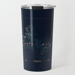Pisces Constellation Travel Mug