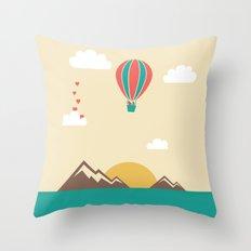 Love Balloon Throw Pillow