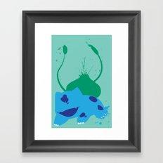 Bulba-saur Splat Framed Art Print