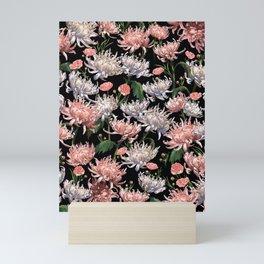 Coral + White Mums Mini Art Print
