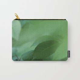 Close up of green leaves. Background. Carry-All Pouch