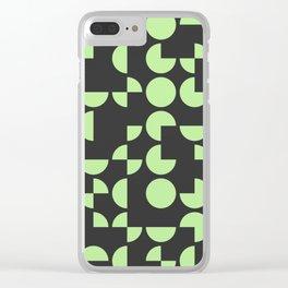 Mid Century Geometric Pattern IV Clear iPhone Case