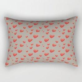 Floating Hearts, Heart Balloons Rectangular Pillow