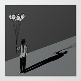 The Black Balloon Canvas Print