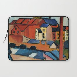 """August Macke """"St. Mary's with Houses and Chimney (Bonn)"""" Laptop Sleeve"""