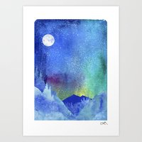 northern lights Art Prints featuring Northern Lights by Ricardo Moody