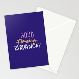 Good Morning Riddance Stationery Cards