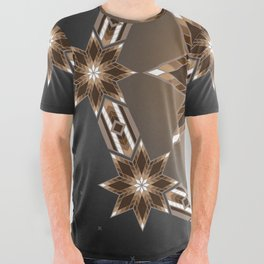 Morning Star Circle (Brown) All Over Graphic Tee