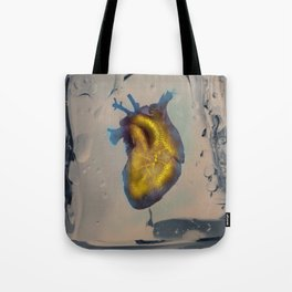 Heart of Gold encased in ice Tote Bag