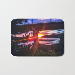 Casco Bay Bridge Sunburst Bath Mat