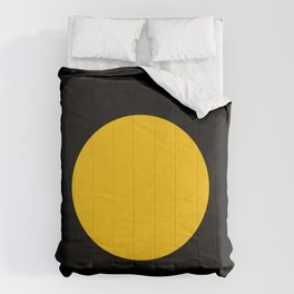 Light in the Dark | Yellow Circle Comforters