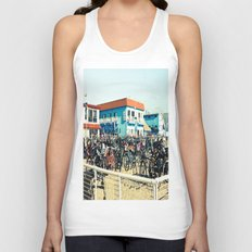 Bicycle Parking Lot Unisex Tank Top