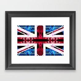 circuit board United Kingdom (flag) Framed Art Print