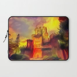 Red and Green Butrón Castle Laptop Sleeve