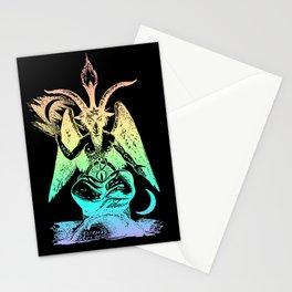 Pastel Rainbow Baphomet Stationery Cards