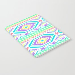 Aztec Geometric Print - Pastel bright colours Notebook