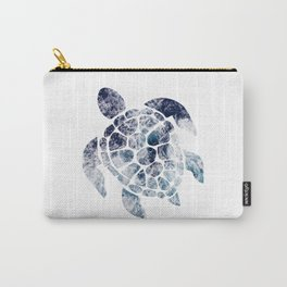 Sea Turtle - Blue Ocean Waves Carry-All Pouch