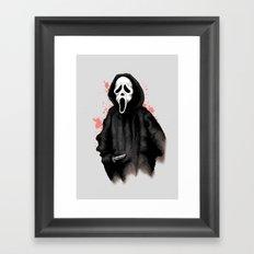 Ghost Face Framed Art Print