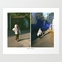thank you Art Prints featuring THANK YOU, THANK YOU. by Ryan Clarke