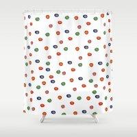 polka dots Shower Curtains featuring Polka Dots  by BriannaCamp