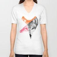 eric fan V-neck T-shirts featuring Wild by Eric Fan & Garima Dhawan by Garima Dhawan