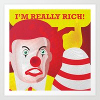 Mc Donald Trump Art Print