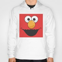 elmo Hoodies featuring Sesame Street Elmo by Jconner