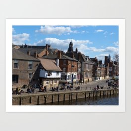Kings Staith York river ouse Art Print