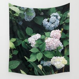 Hydrangeas in the Yard Wall Tapestry