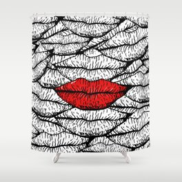 A Bunch of Kisses Shower Curtain