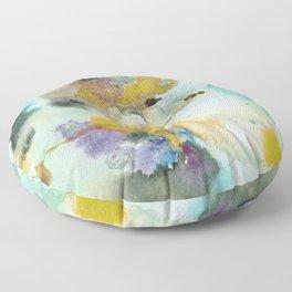 Watercolor Ponds Floor Pillow