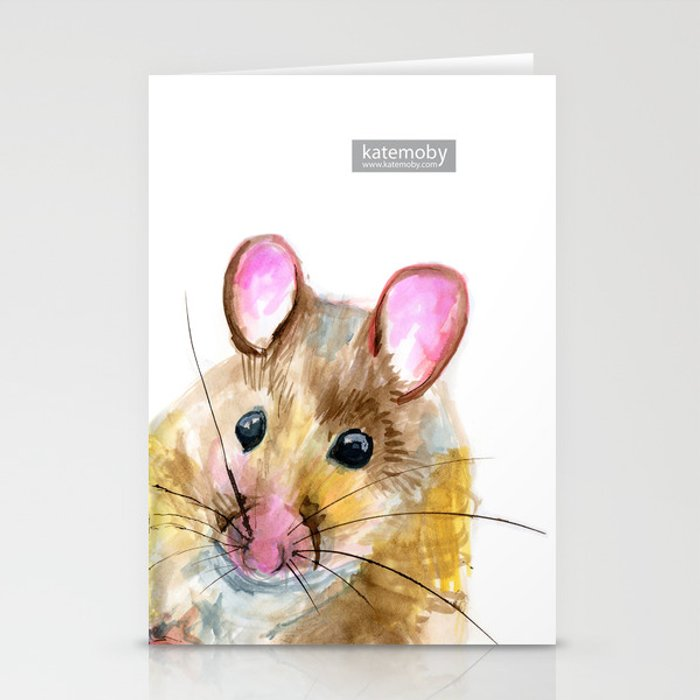 Inky Mouse Stationery Cards