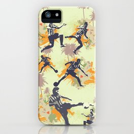 Vintage flower football iPhone Case