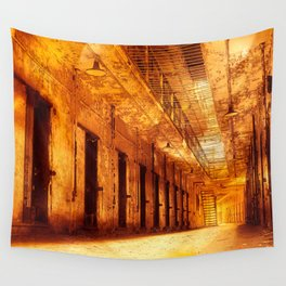Infernal Prison Corridor Wall Tapestry