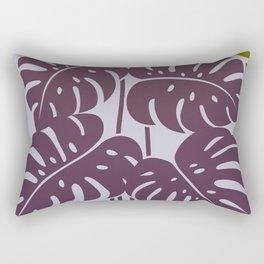 PLANTS - philodendron#3_Purple Rectangular Pillow
