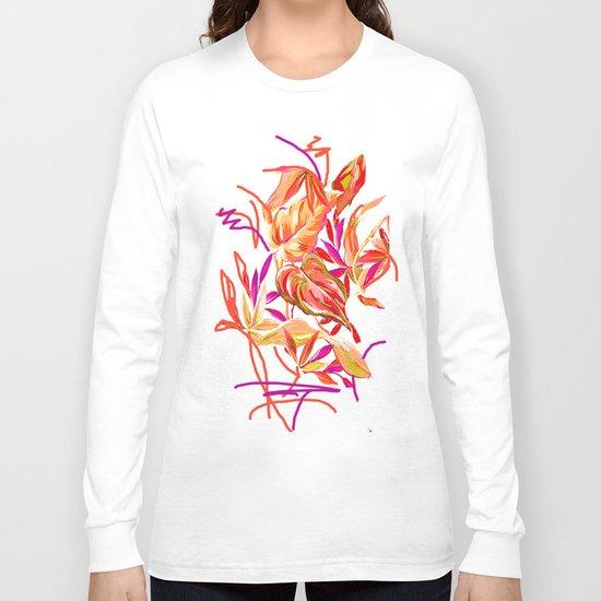 fall tropical leaves Long Sleeve T-shirt