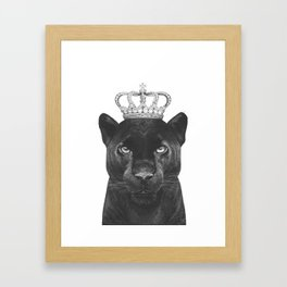 The King Panther Framed Art Print